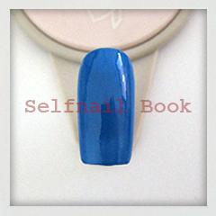 211014セルフジェルネイル青色タータンチェック柄アートのやり方01