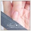 ジェルネイルのプレパレーション ファイルで爪の形を整える