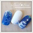 191114セルフジェルネイル雪の結晶&クリスマスツリーアート01