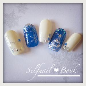 241114セルフジェルネイルホワイトクリスマスアート02