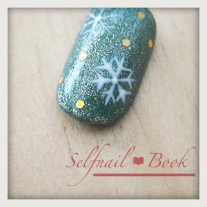 061214セルフジェルネイル雪の結晶手書き書き方02