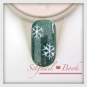 061214セルフジェルネイル雪の結晶手書き書き方07