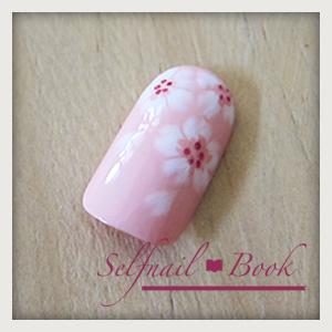 241214セルフジェルネイル桜アートのやり方09