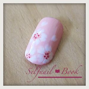 241214セルフジェルネイル桜アートのやり方10