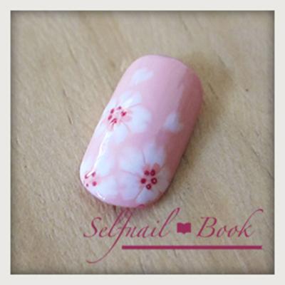 桜ネイルの書き方8