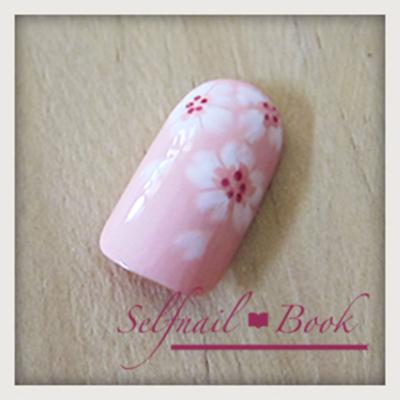 桜ネイルの書き方9