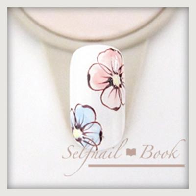 ネイルアートの花の書き方3