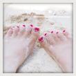 100215セルフジェルネイル足の爪は夜に切ってはいけない?!