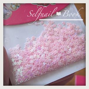 010514セルフジェルネイルピンク色パーツ02
