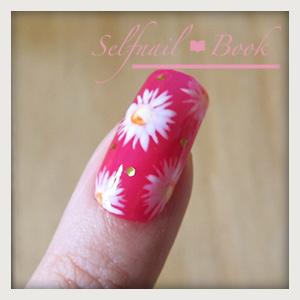 300515セルフジェルネイル簡単!花柄マーガレットネイルのやり方10