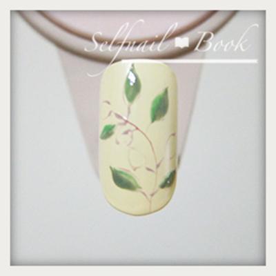 ジェルネイルで描く南フランス陶器風アートのやり方4