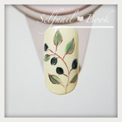 ジェルネイルで描く南フランス陶器風アートのやり方5