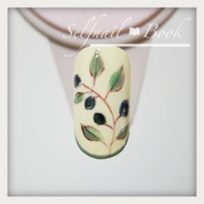 ジェルネイルで描く南フランス陶器風アートのやり方6