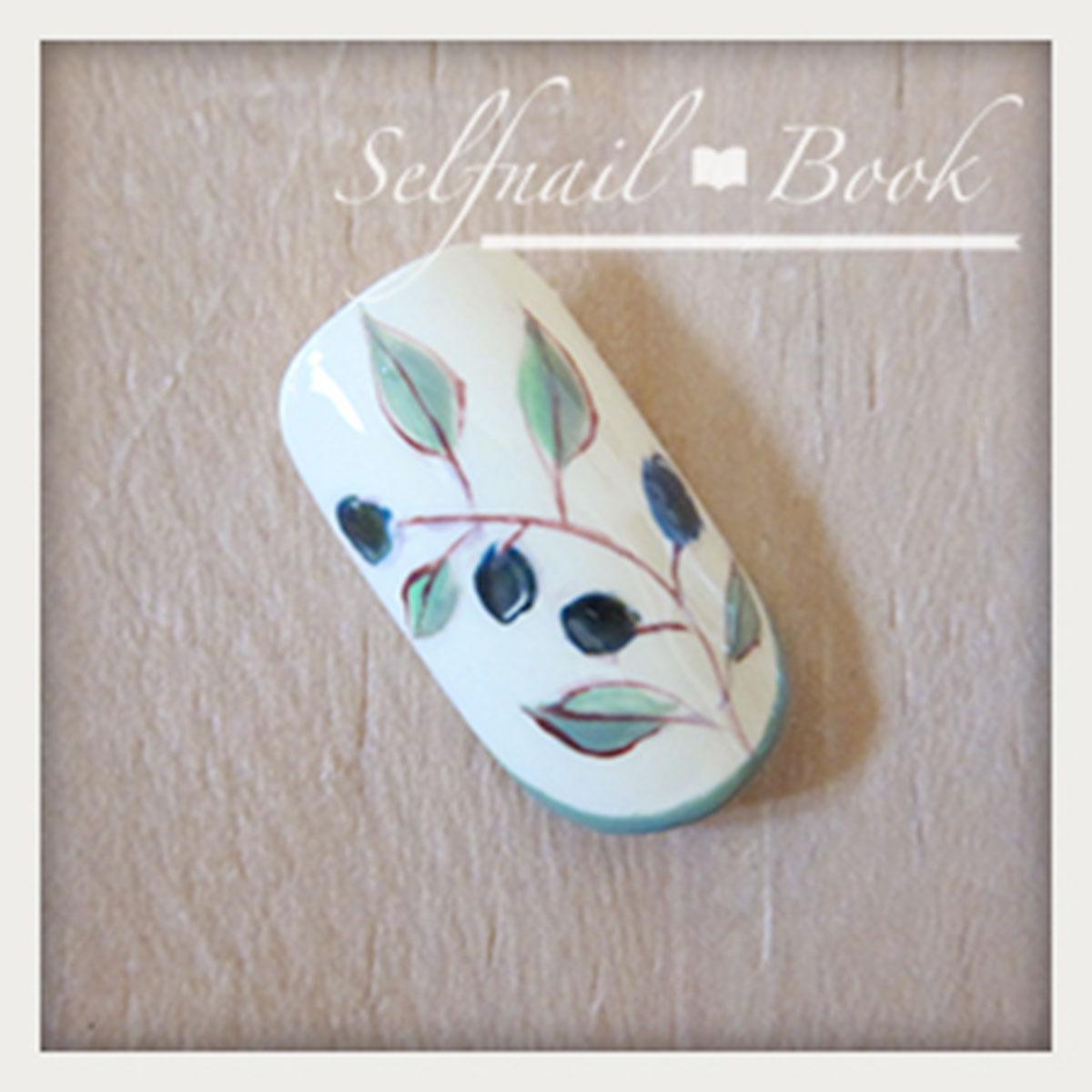 ジェルネイルで描く南フランス陶器風アートのやり方7