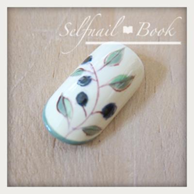 ジェルネイルで描く南フランス陶器風アートのやり方9