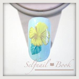 230715selfnailbookシックなハイビスカスの花の書き方-05