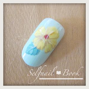 230715selfnailbookシックなハイビスカスの花の書き方-08