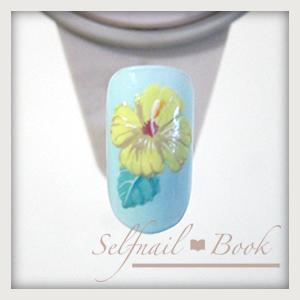 230715selfnailbookシックなハイビスカスの花の書き方-06