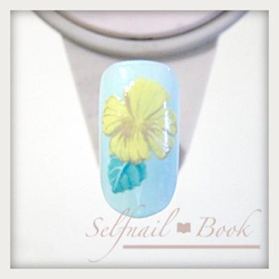 シックなハイビスカスの花の書き方|ジェルネイルだけで簡単リアルに5
