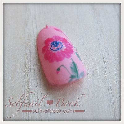 春の花 アネモネネイルのやり方10