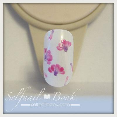 春の花 レンゲの小花ネイルアートのやり方4