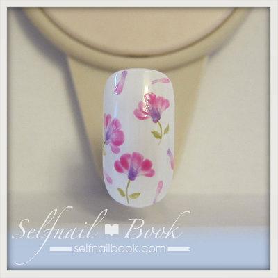 春の花 レンゲの小花ネイルアートのやり方5