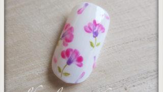 春の花 レンゲの小花ネイルアートのやり方6