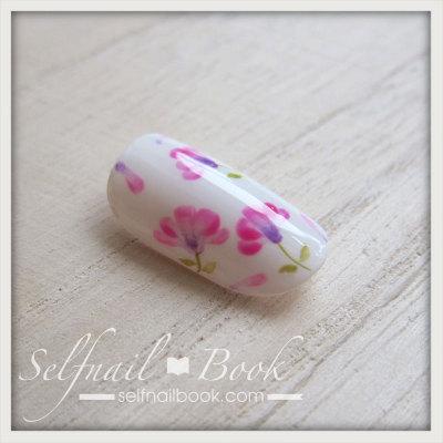 春の花 レンゲの小花ネイルアートのやり方7