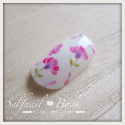 春の花 レンゲの小花ネイルアートのやり方8