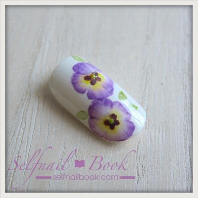 お花のネイルアート「パンジーのやり方」9