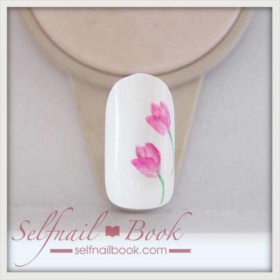 春の花 チューリップネイルのやり方6