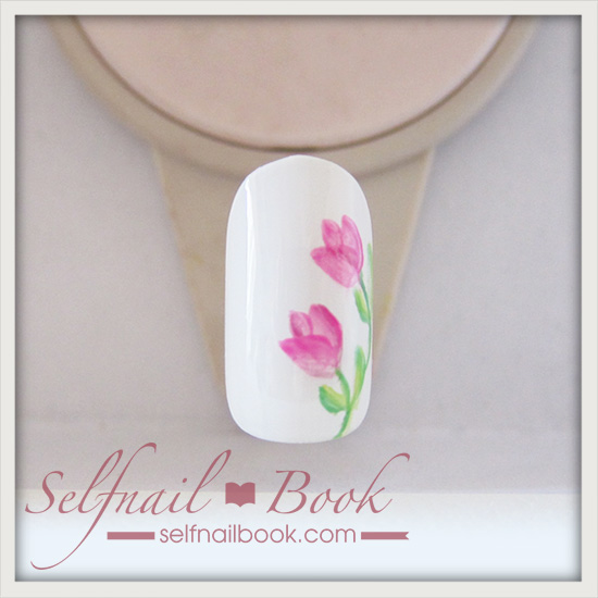 春の花 チューリップネイルのやり方7