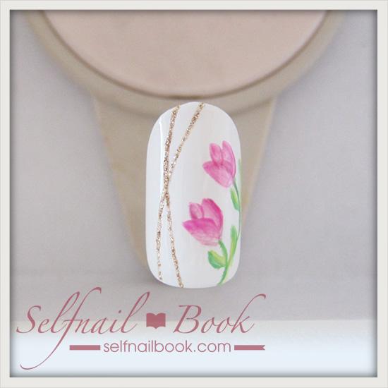 春の花 チューリップネイルのやり方8