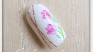 春の花 チューリップネイルのやり方9