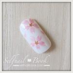 ジェルネイルで描く「桜のアート」のやり方
