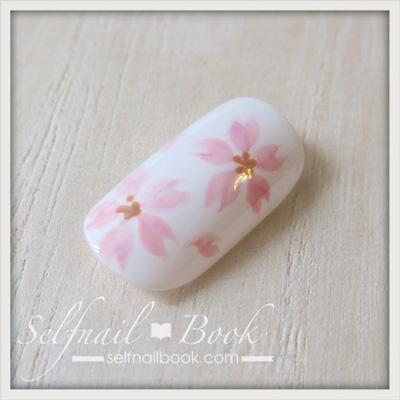 ジェルネイルで描く「桜のアート」のやり方9