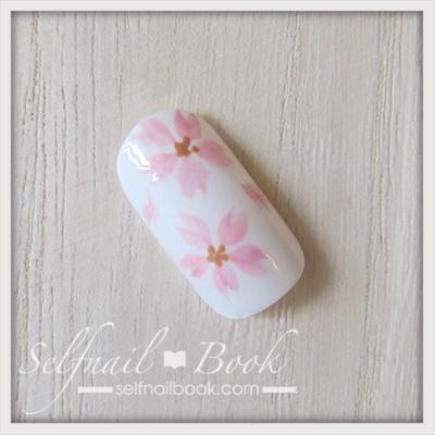 トールペイントで書く桜の花1