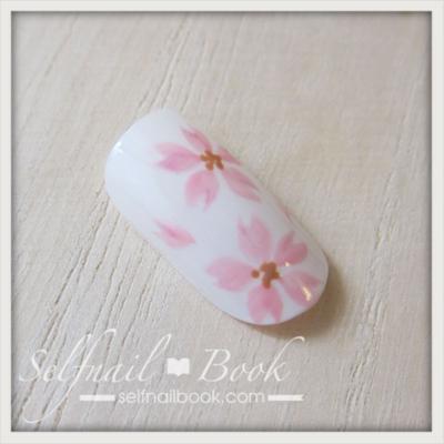 トールペイントで書く桜の花3