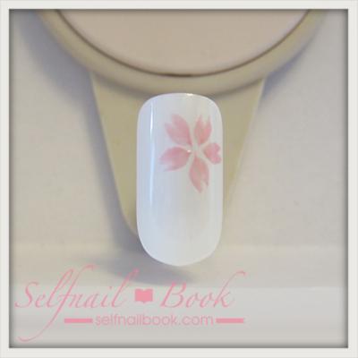 トールペイントの技法で書く桜の書き方6