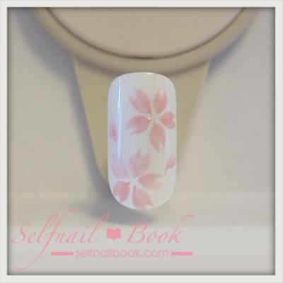 トールペイントで書く桜の花の書き方7