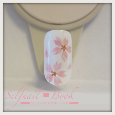 トールペイントの技法で書く桜の書き方9