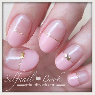 Myネイル|シンプルなピンクハーフフレンチ♡1