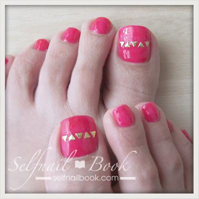 Myネイル|お気に入りピンクのワンカラーフット1