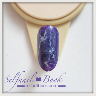 簡単!流行色の天然石アメジストネイルのやり方は、3ステップでできる!3
