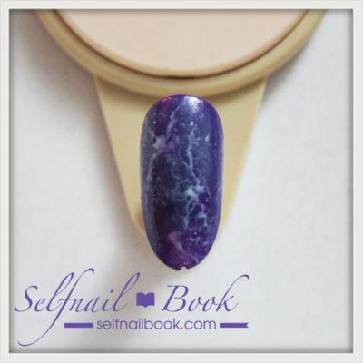 簡単!流行色の天然石アメジストネイルのやり方は、3ステップでできる!4