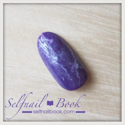 簡単!流行色の天然石アメジストネイルのやり方は、3ステップでできる!5