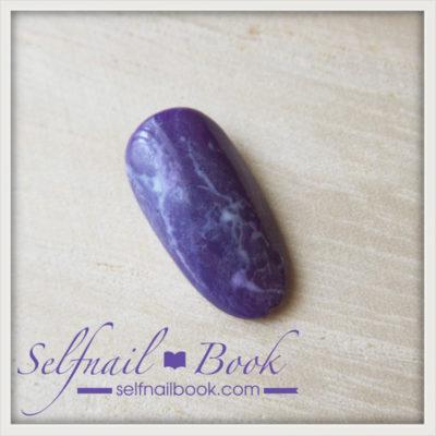 簡単!流行色の天然石アメジストネイルのやり方は、3ステップでできる!6