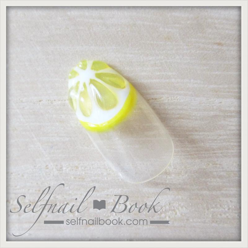 この夏の流行!フルーツネイル(レモン柄)のやり方8
