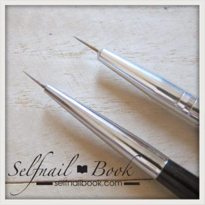 レビュー|ネイル工房さん黒筆シリーズのライン筆5
