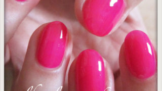 Myセルフネイル|イベント用ピンクのワンカラーネイル1